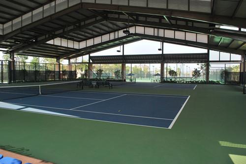 室内硅PU网球场